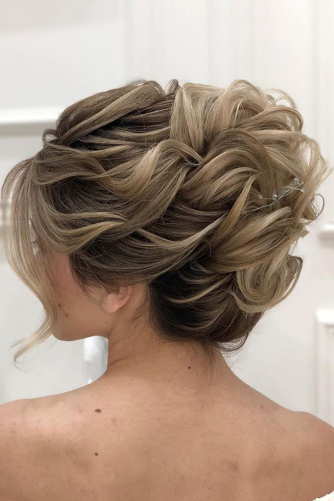 Mother Of The Bride Hairstyles High Curly Updo For Medium