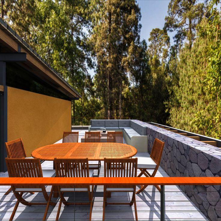 Terraza-comedor  Wood-GlassHouse.