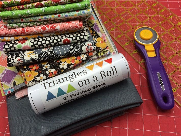 Triangles on a Roll--Secret For Sewing Perfect Triangles