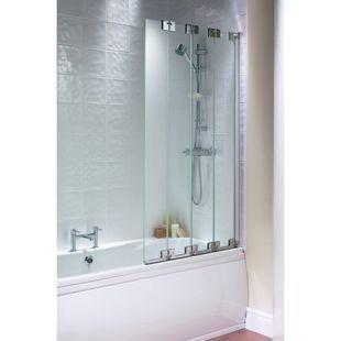 Wickes Frameless Four Fold Bath Screen | Wickes.co.uk