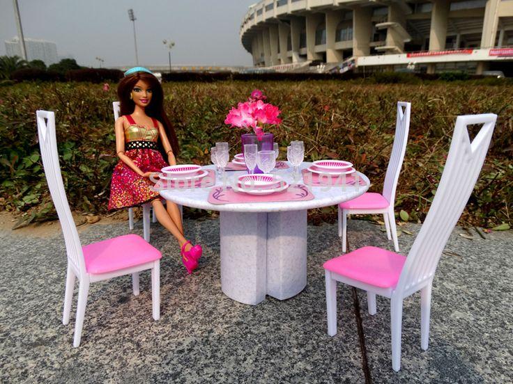Бесплатная Доставка Девушка подарок на день рождения пластиковые Игровой Набор Мебель Для гостиных стулья кукла мебель для кукол для куклы барби