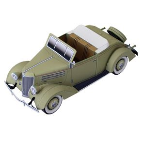 Ford Convertible Cabriolet - Vehicles - Paper Craft - Canon CREATIVE PARK Paper Model (for grown ups!)