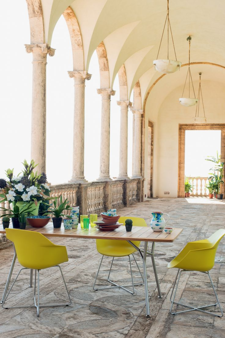 Atelier Pfister Table Tablat and Chair Wila, Outdoor Ideas, Garden, Terrace, Furnishing and Decoration Ideas