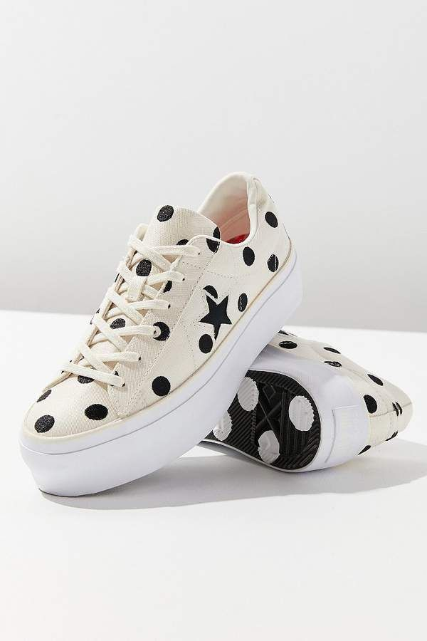 Converse One Star Polka Dot Platform Sneaker The original