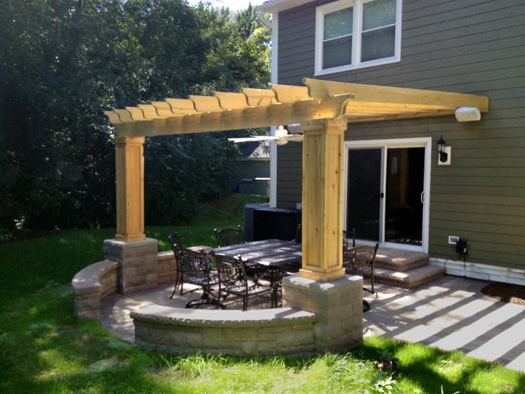 Patio With Seat Walls, Pillars, And Pergola In Naperville, IL   Patios U0026  Hardscapes Photo Gallery