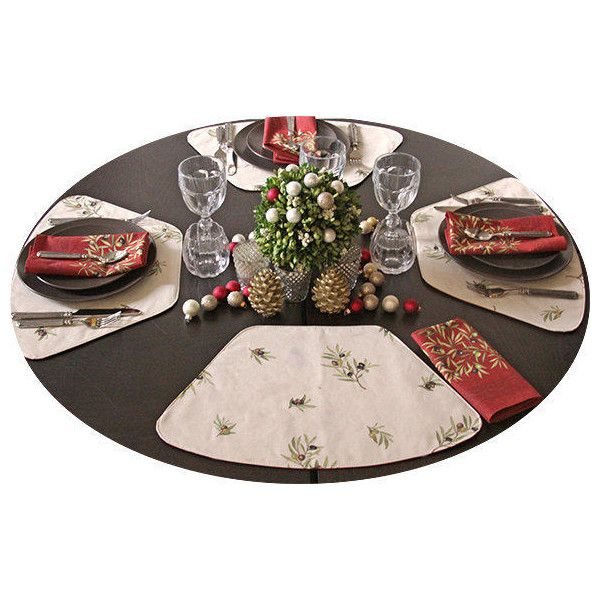 how to set a round table with placemats