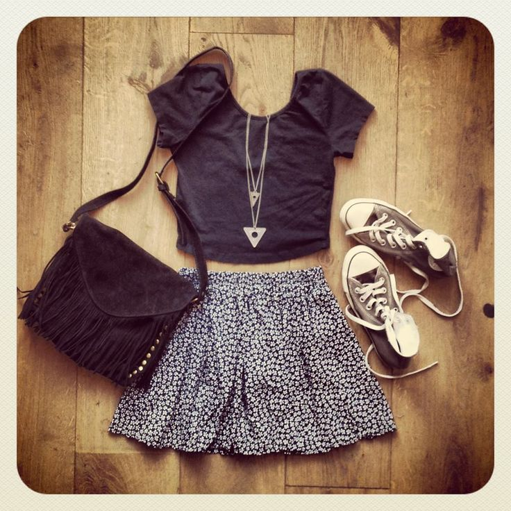Very cute. I'd pair with heels instead of converse, though.