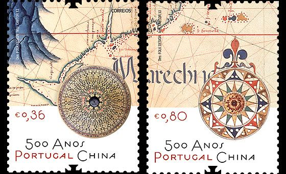 2013 marks the five hundred years of the direct relationship of cooperation and friendship between Portugal and China. Our aim is to highlight the longevity of this relationship between the Portuguese people and Chinese people. This stamp edition was issued this year by the Portuguese Post.