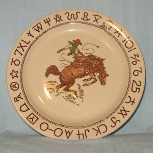 cowboy plate _ Have this! & 95 best Restaurant Ware....Vintage images on Pinterest   Dinnerware ...