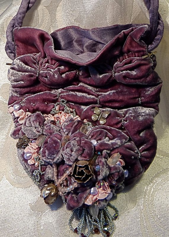 Victorian Beaded Evening Bag 1900's Bridal by Marcellefinery, $315.00
