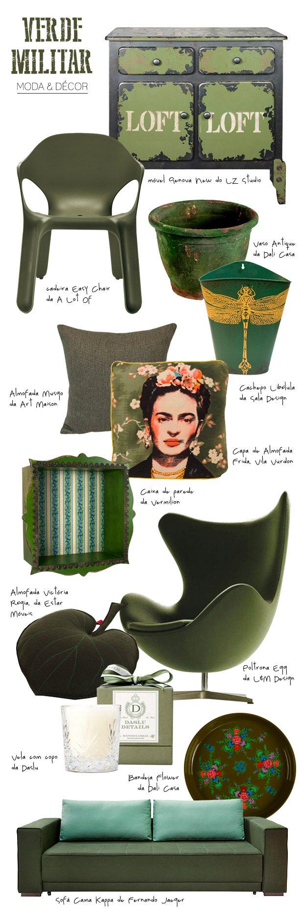 Casa de Valentina - Blog - Verde militar na decoração