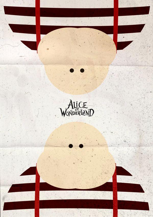 Alice in Wonderland (2010) ~ Minimal Movie Poster by Pgsqueallove Street #amusementphile