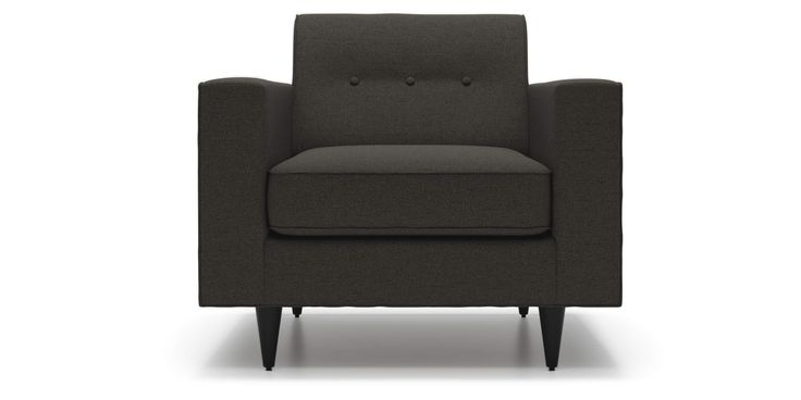 Riva Chair in Graphite Grey Fabric by Kavuus.com (Made in Canada)