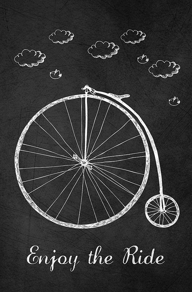 'Enjoy the Ride' Chalkboard Print