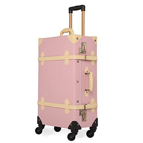 New Trending Luggage: Unitravel Vintage Suitcase Retro PU Leather Luggage Rolling Spinner Lightweight Suitcase (24, light pink). Unitravel Vintage Suitcase Retro PU Leather Luggage Rolling Spinner Lightweight Suitcase (24″, light pink)  Special Offer: $189.00  499 Reviews Dear friend, This is new shop opened by our own factory. We have the advantage of product competition, and we are also developing new...