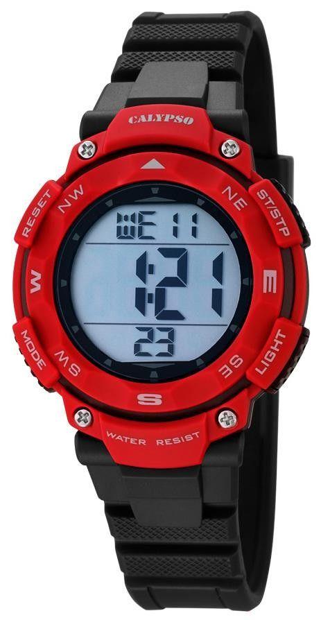 Calypso Digital Sport Damen Armbanduhr K5669/5 schwarz rot    http://www.uhren-versand-herne.de/calypso-digital-sport-damen-armbanduhr-k5669-5-schwarz-rot.html