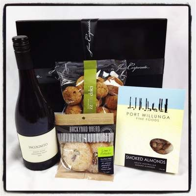 Shaw + Smith Pinot Noir, sticky date cookies and Port Willunga Fine Foods smoked almonds, could it get much better? At $85 you have your Father's Day gift done and dusted! http://www.justcorporate.net.au/gifts/browse-by-style/chocolate/hot-chocolate-for-uno/