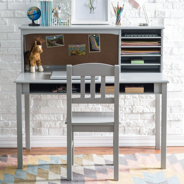 1000 Ideas About Gray Desk On Pinterest Bedroom Feature