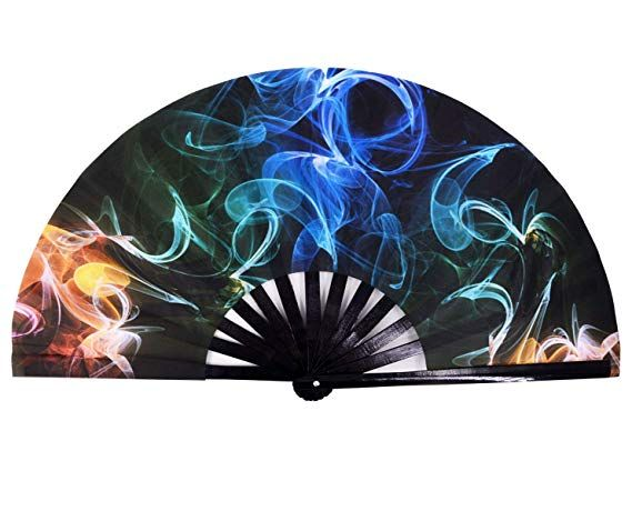 AM2 Hand Folding Fans for Women//Men Amajiji Large Galaxy Folding Fan Chinease//Japanese Folding Nylon-Cloth Hand Fan Hand Fan Festival Gift Fan Craft Fan Folding Fan Dance Fan