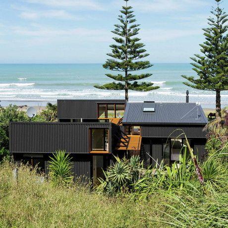 Дом у океана в Новой Зеландии.