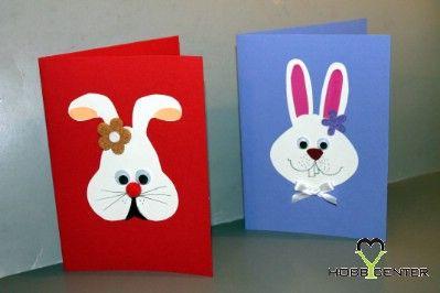 Kreatív tavasz: Nyuszis húsvéti képeslap