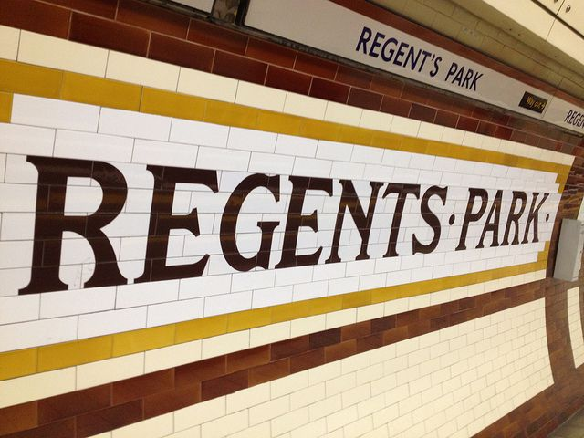 London Underground tiling design Regent's Park, Bakerloo Line | Flickr - Photo Sharing!