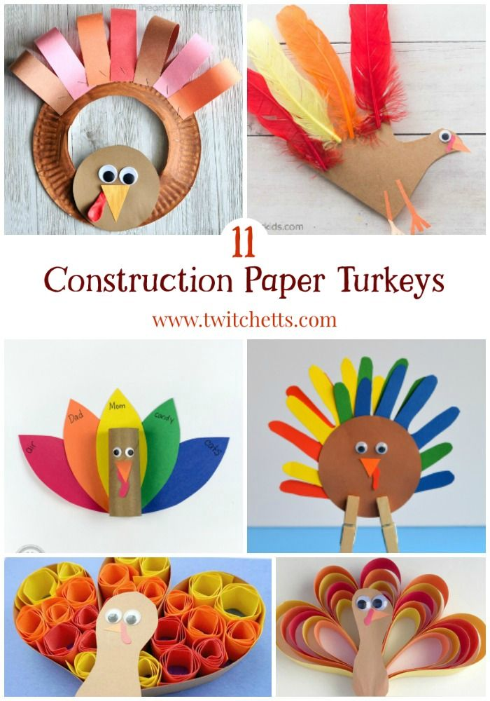 11 Easy Construction Paper Turkeys Your Kids Will Love To Make