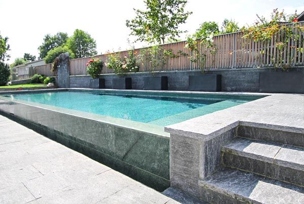 Natursteinpool Schwimmbad Egli Gartenbau Ag Uster Mit Bildern