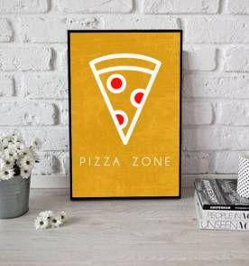 poster pizza zone - 30x40cm