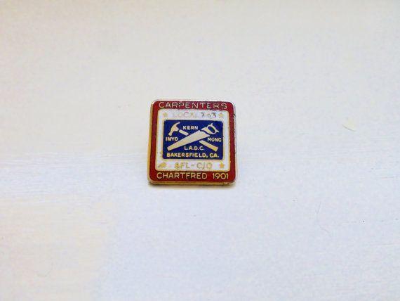 Vintage carpenter's union pin california carpenter's union kern county carpentry lapel pin vintage 14k gold vintage pin union pin by 6thandDurianVintage