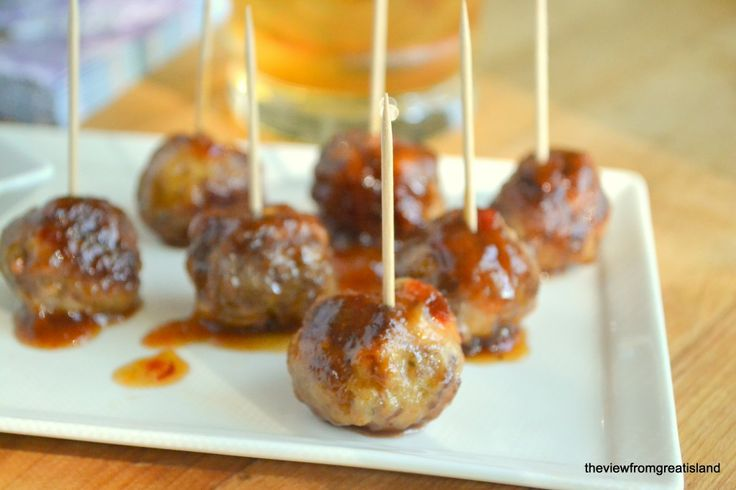 The View from Great Island | It's Five O'Clock Somewhere Friday: Bourbon Meatballs