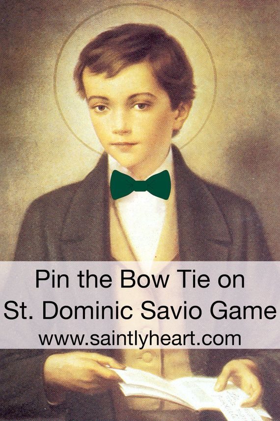 Pin the Bow Tie on St. Dominic Savio Game for ALL  HALLOWS' EVE/ ALL SAINTS DAY PARTY