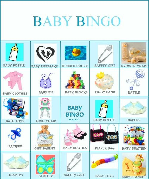 list of baby shower games