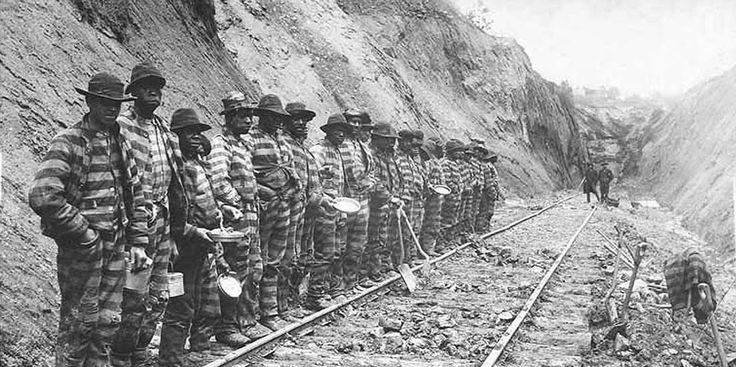 Convicts working on a railway