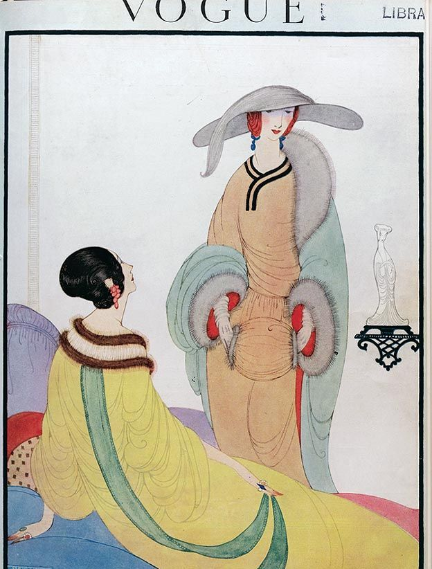 Vintage Vogue cover by Helen Dryden, November 1919