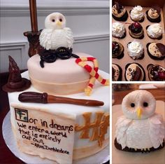 Another baby shower set the standard for Harry Potter-themed baby cakes. | 23 Things You Need To Know If You're Pregnant And Love Harry Potter