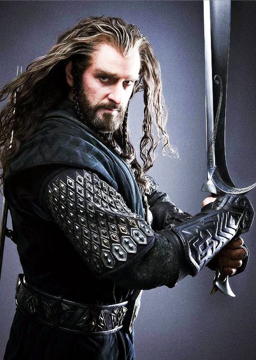 "What other people think: ""OMG he's so hot much majesty I hope he takes his shirt off."" What I think: ""Stop trying to be hot, Richard. Thorin was supposed to be *old.*""--description written by Frodo the Second"