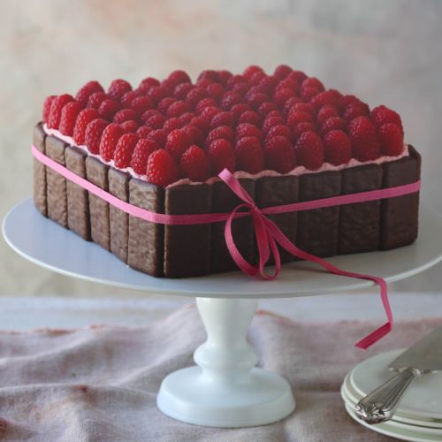 Milk Chocolate Raspberry Tim Tam Cheesecake by Adriano Zumbo
