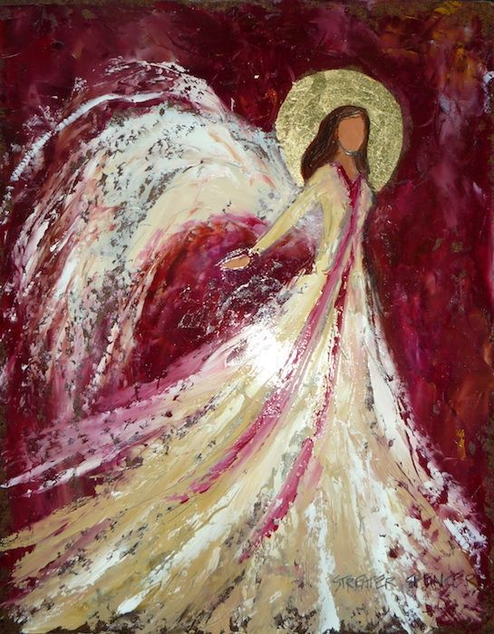 Angel on Red - Streater Spencer