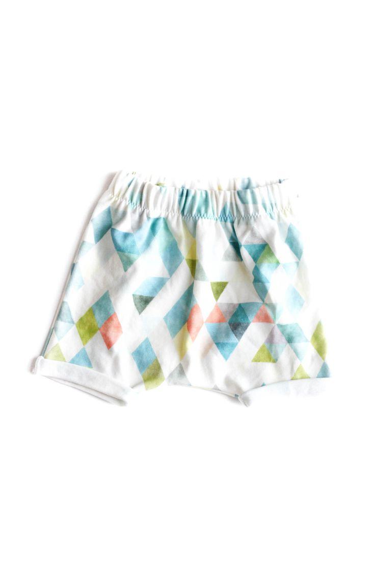 organic harem shorts, watercolor baby shorts, unisex harem pants, modern toddler shorts, kids shorts, baby harem shorts, organic baby by babysproutsco on Etsy https://www.etsy.com/listing/290970933/organic-harem-shorts-watercolor-baby