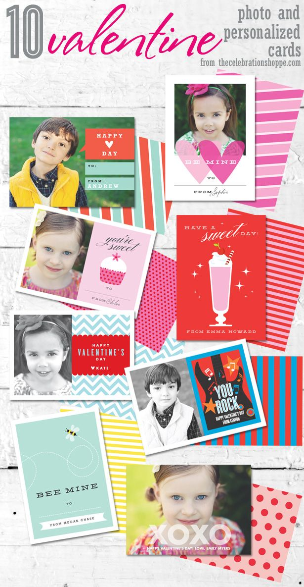 10 Personalized Valentine Photo Cards | TheCelebrationShoppe.com  #kimbyers #thecelebrationshoppe
