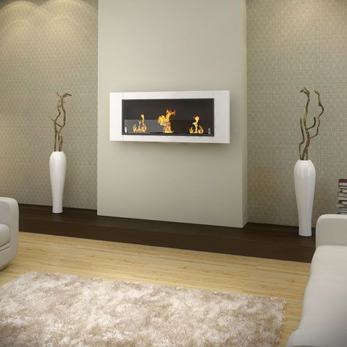 Buy AQUARIA WHITE Wall Mounted Bio Ethanol Fireplace - 3 Burner Online Australia