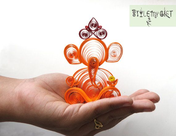 Lord Ganesha  Paper Quilled Giftable by StyleMyGift on Etsy, $20.00