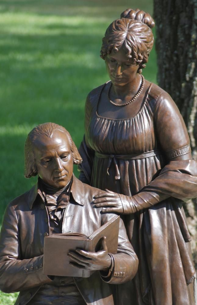 James and Dolley Madison statue at Montpelier 4th #President of the United States and #FirstLady  #PresidentsOfUSA