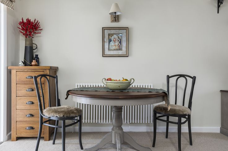 Traditional dining room, dining table, painted furniture, Annie Sloan chalk paints