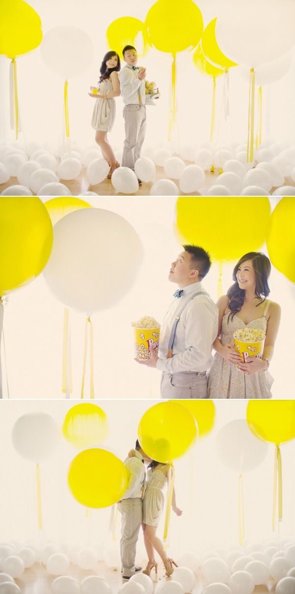 Balloon Engagement Session by Hong Photography Studio | The Wedding Story