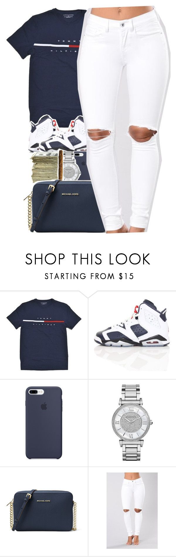 """Hilfiger"" by uniquee-beauty ❤ liked on Polyvore featuring NIKE, SEN, Michael Kors and MICHAEL Michael Kors"
