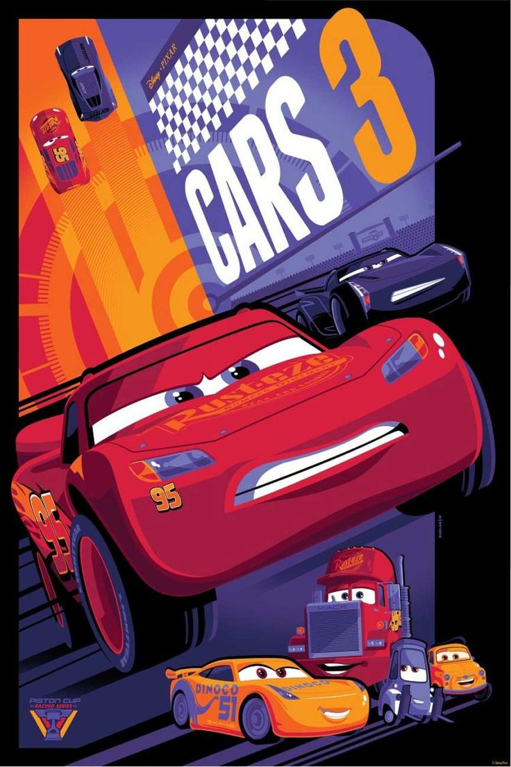 This cars 3 art from cyclops print works will get your heart racing