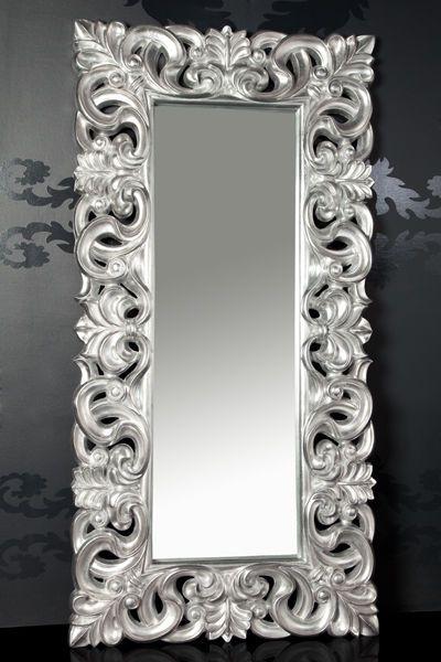 XXXL Wandspiegel Spiegel Repro Barock Antik Rechteckig Replike 180 x 90 A.Silber   Möbel & Wohnen, Dekoration, Spiegel   eBay!