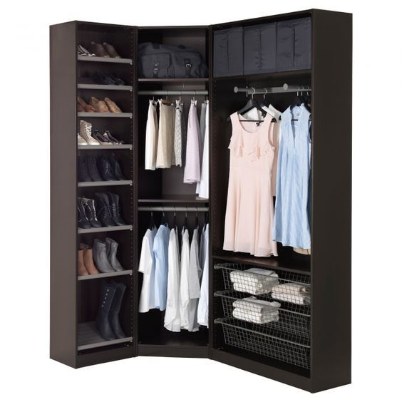 14 walk in closet designs for luxury homes armarios for Armario esquinero ikea